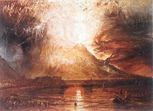 arte romantica esplosione del vesuvio 1817 William Turner