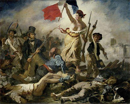 Arte romantica Libertà che guida il popolo Eugène Delacroix