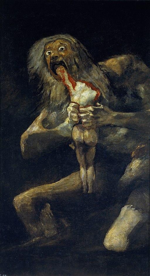 Arte romantica Saturno che divora i figli Francisco Goya